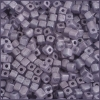 Square Beads 3.4x3.4mm Round Hole Blue Luster Matte